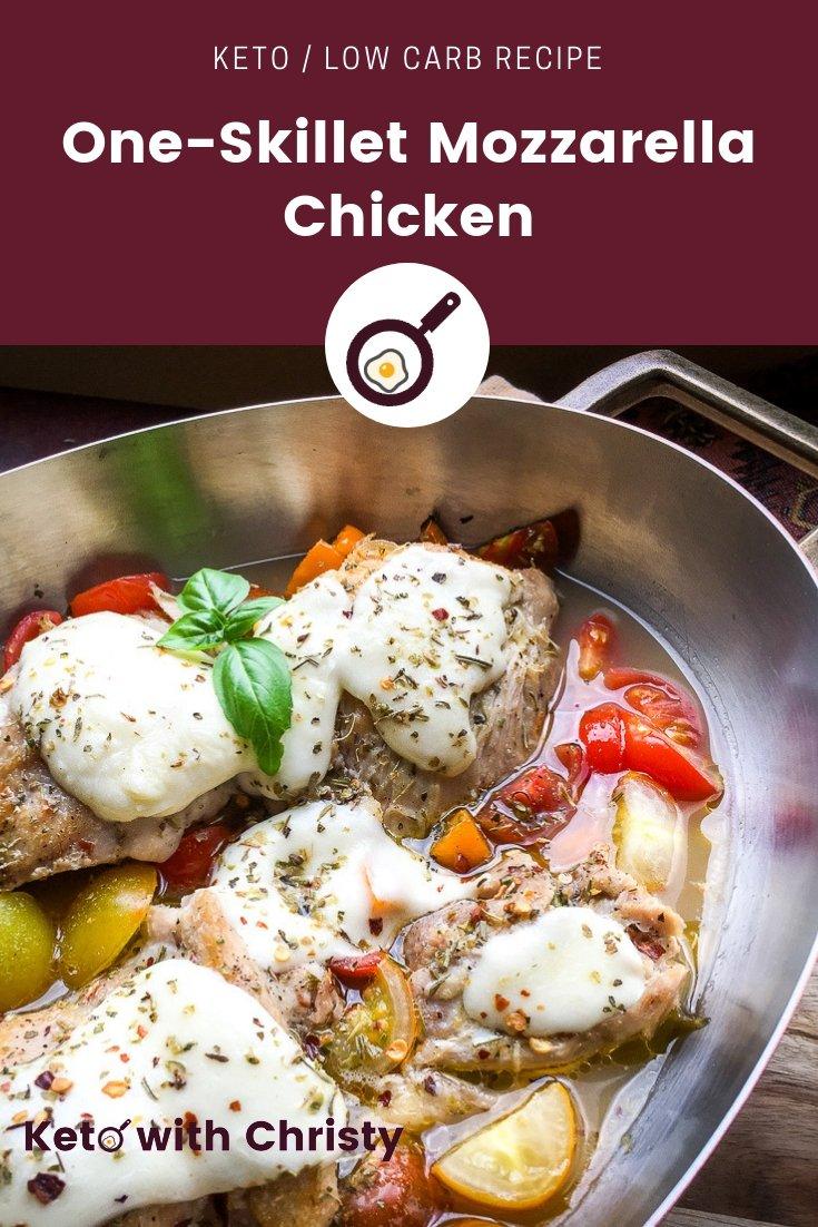 One-Skillet Mozzarella Chicken