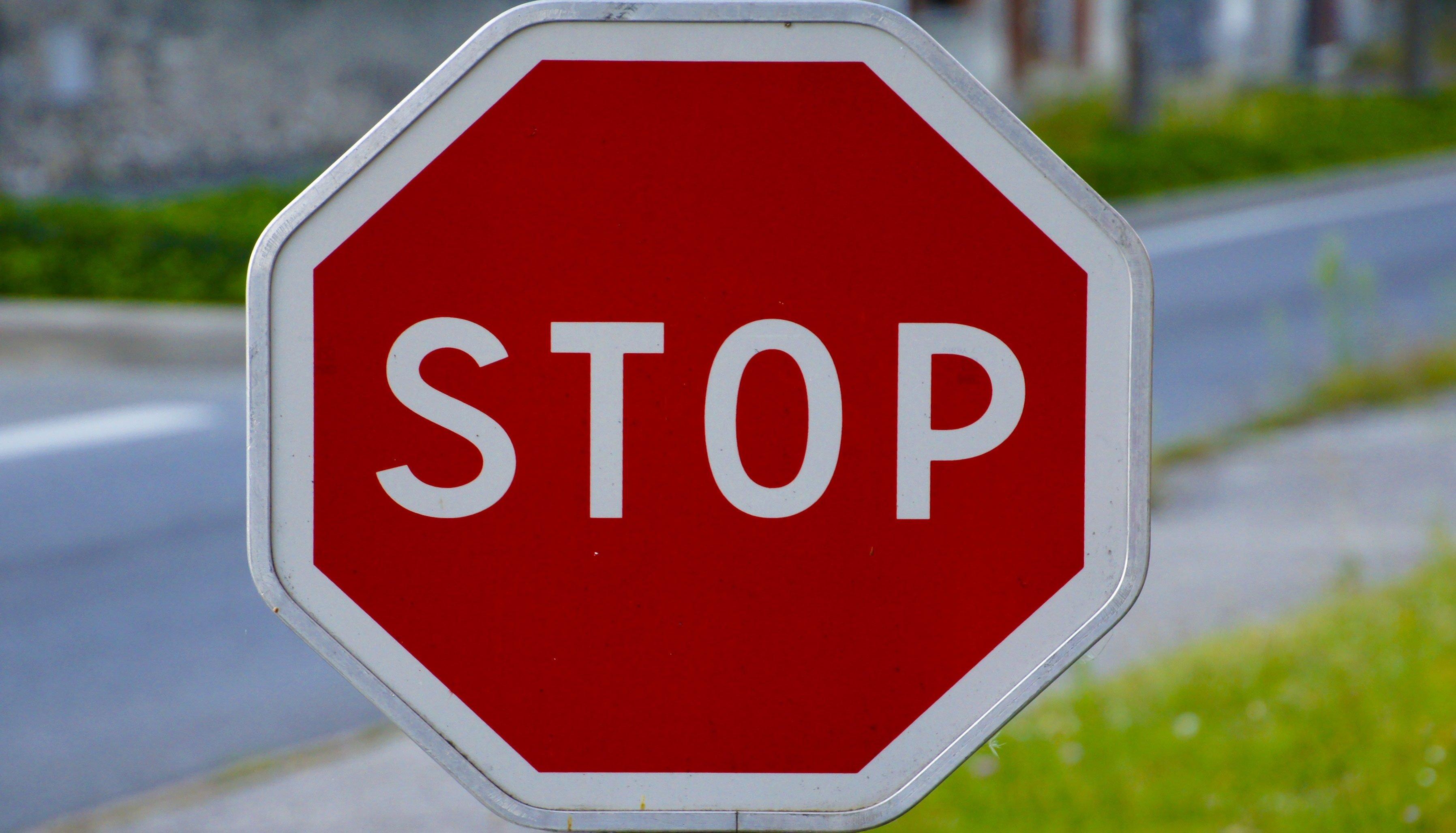 Panel Stop Signalling Road Traffic Wallpaper